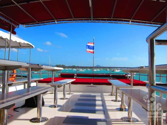 Upper Deck on Indepth Phuket Diving Boat 4