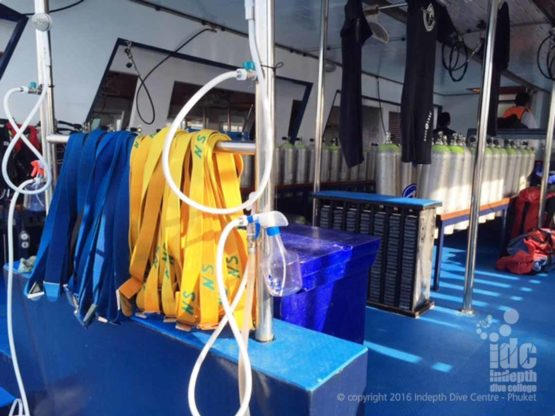 Weights and Weight Belts are on all Phuket Scuba Diving Trip Boats