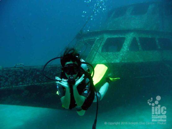 One of the Wrecks at Racha Yai Bay 1 Phuket