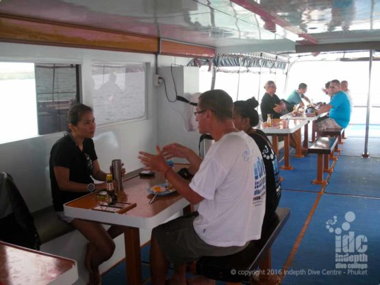 Plenty of time for dive briefings during the PADI Boat Diver Course