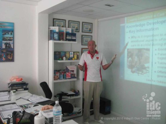 Take your Indepth EFR Instructor Course and your IDC with Chris on Phuket Thailand