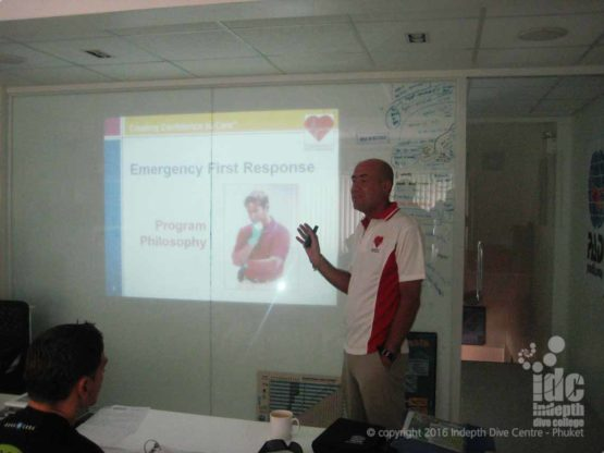 EFR Instructor Orientation at Indepth Dive Centre Phuket