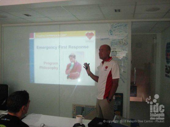 EFR Instructor Orientation at Indepth Dive Centre Phuket