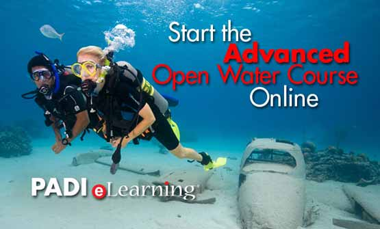 Start your PADI Advanced Course with eLearning and Indepth Phuke