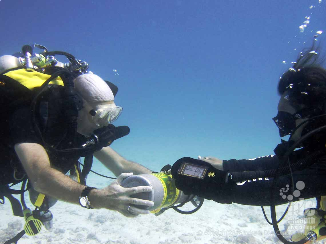 Divers on a PADI Rebreather Combo Course on Phuket Thailand