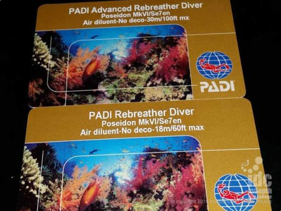 Congratulations on your PADI Rebreather Certifications
