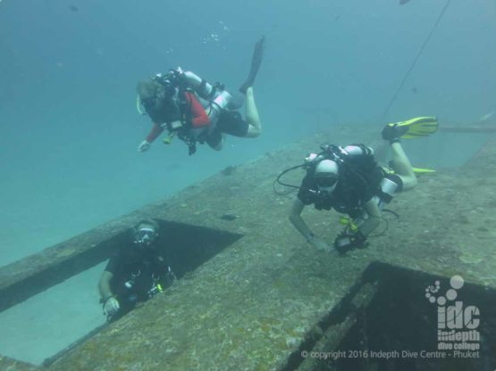 Advanced Rebreather Course diving on Wreck in Bay 1 Racha Yai