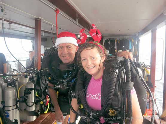 Phuket is a great place to take your Poseidon Rebreather diving course especially on Christmas Day