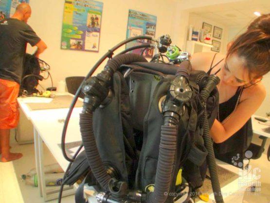 Poseidon MKVI Rebreather ready to dive