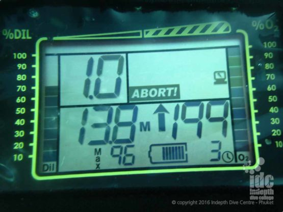 Poseidon Se7en / MKVI primary display giving an ABORT warning