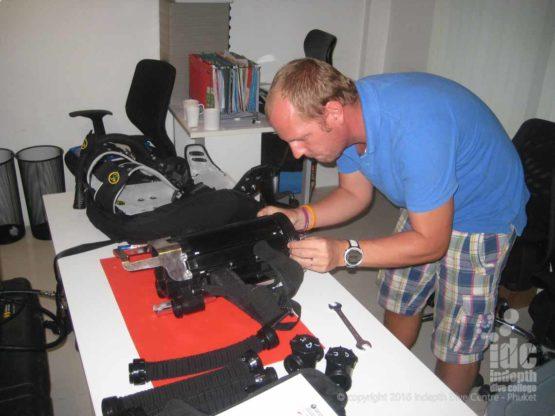 Assembling a Poseidon MKVI Rebreather on Advanced Rebreather Course