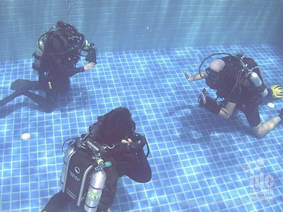 Poseidon Rebreather Course pool dive on Phuket Thailand