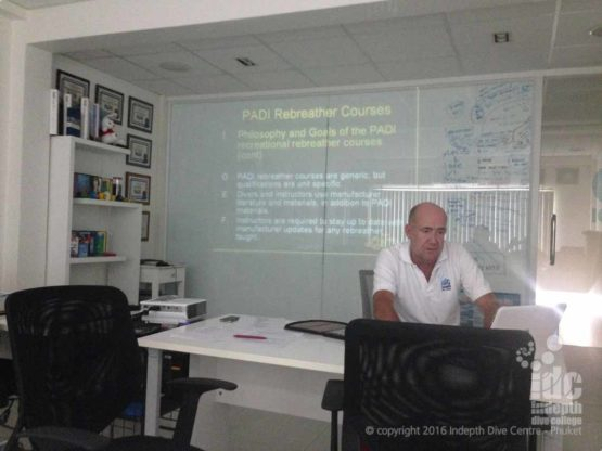Poseidon Rebreather Course with Chris and Indepth Dive Centre on Phuket, Thailand