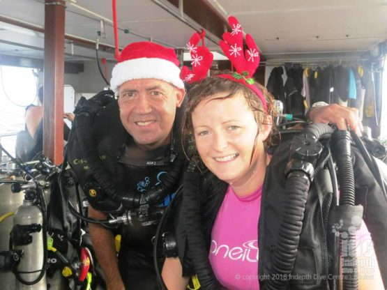Christmas fun with a Poseidon Rebreather Course on Christmas Day