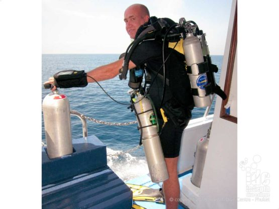 PADI Rebreather Courses diving the Poseidon Se7en Rebreather with Indepth Dive Centre Phuket Thailand