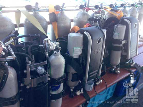 PADI Tec 40 CCR Rebreather Course with Indepth Dive Centre Phuket Thailand