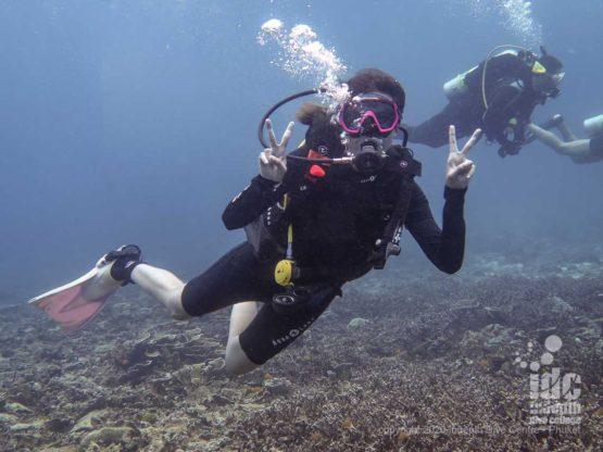 Happy diving in Phuket - Banana Rock Dive Site - Racha Noi Island
