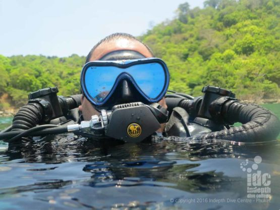 Phuket Poseidon Rebreather Diver at Camera Bay Phuket