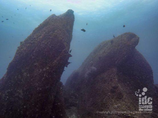 Banana Rock Dive site in Racha Noi Island - Phuket Diving