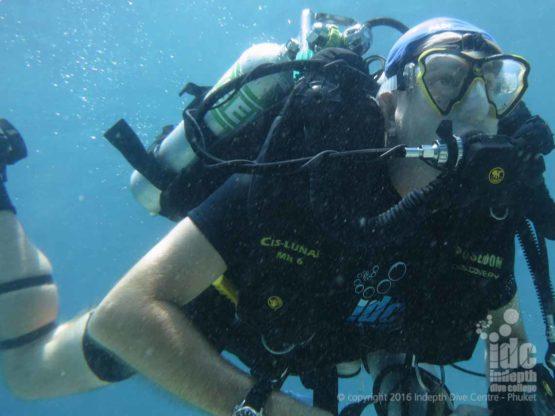 Poseidon Rebreather diver on a Similans Liveaboard