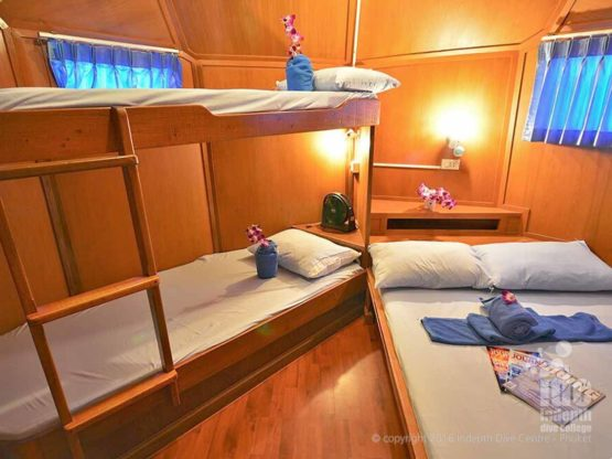 Master Cabin a Budget Liveaboards Thailand Trip