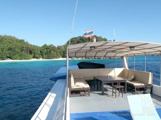 Join Indepth Dive Centre on the sundeck of MV Oktavi Liveaboad in The Similan Islands