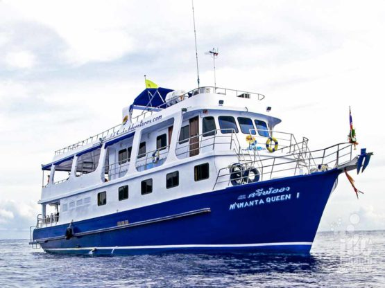 "Similans Budget Liveaboards Thailand vessel""Manta Queen 7"