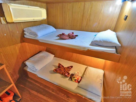 Similans Budget Liveaboards Thailand typical twiin share cabin
