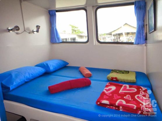 A typical cabin on a Similans Liveaboard MV Oktavia