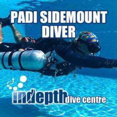 PADI Sidemount student diver learning about sidemount trim