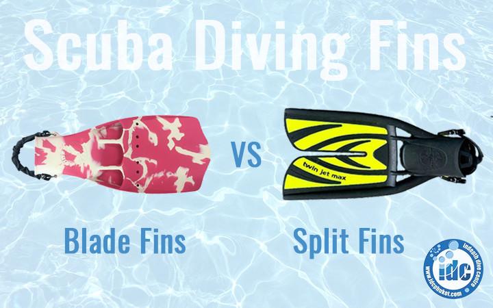 Choosing Scuba Diving Fins Blade Fins and Split Fins