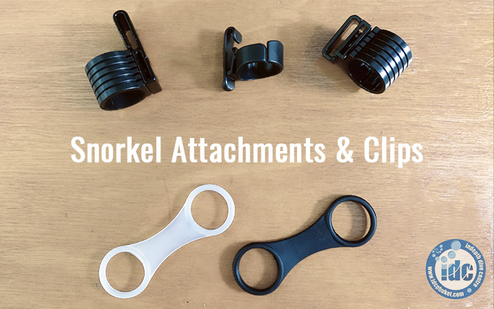 Snorkel attachments and clips