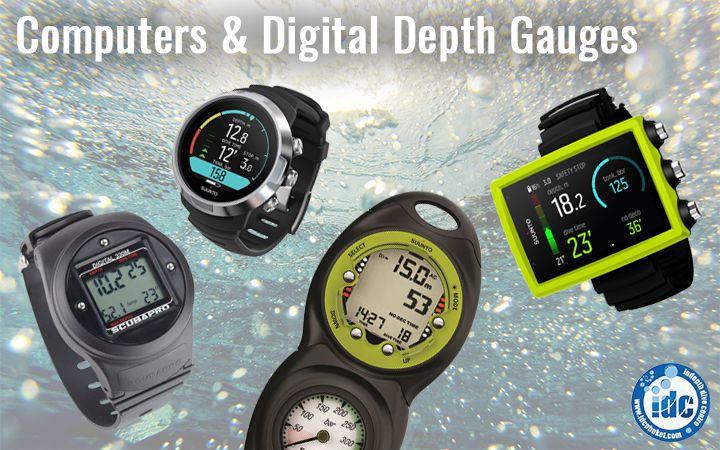 Digital Scuba Depth Gauges and Dive Computers - Depth Monitoring Devices