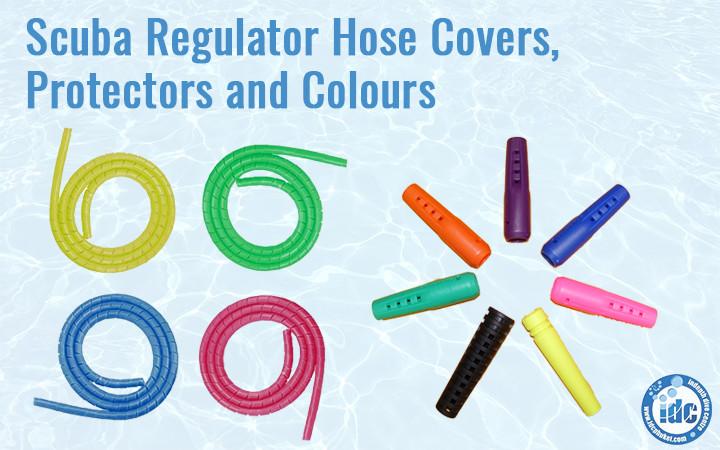 Colourful Scuba Regulator protectors and hoses