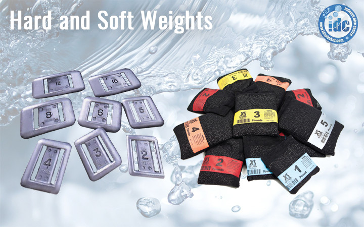Hard and soft scuba diving weights